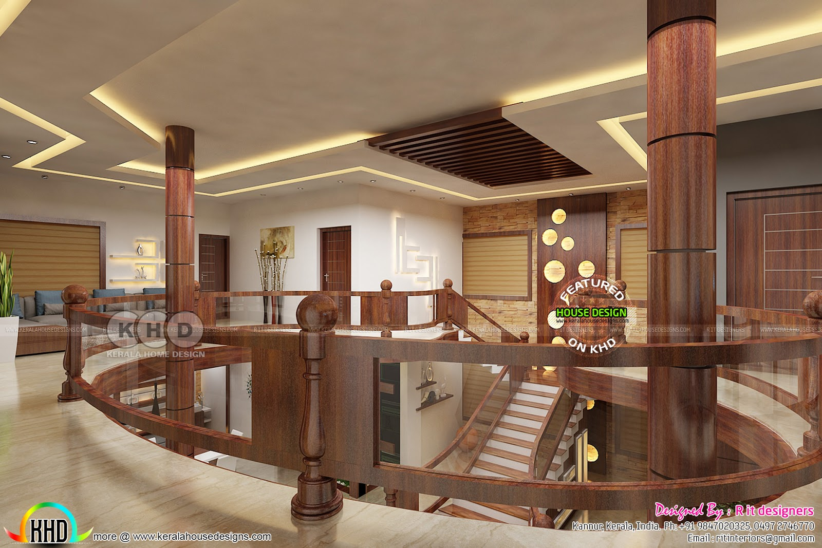 Upper Floor Interior Designs By Rit Interiors Kerala
