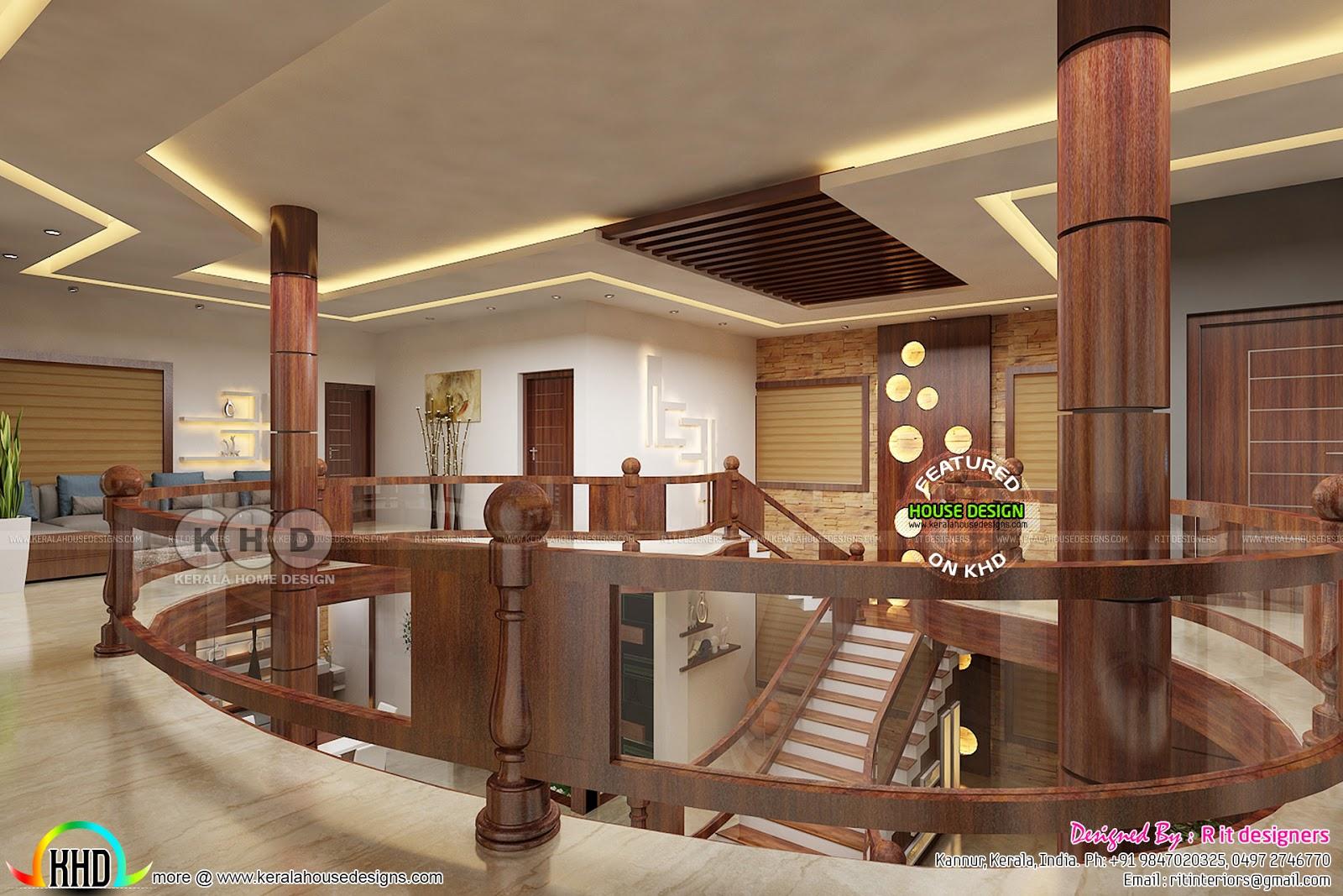 Upper floor interior designs by Rit interiors - Kerala ...