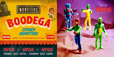 San Diego Comic-Con 2018 Exclusive Boodega Monstore Pop-Up Store Edition Universal Monsters ReAction Retro Action Figures by Super7