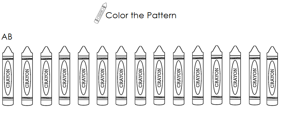 Patterns For Kindergarten Worksheets repeating patterns with 3 – Pattern for Kindergarten Worksheets