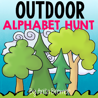 Outdoor Alphabet Hunt- take learning outside!
