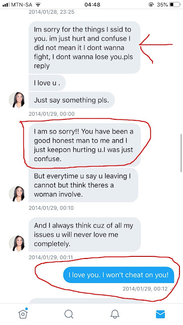 South African man talks about the physical and emotional abuse he suffered at the hands of his ex-wife, shares old disturbing chats