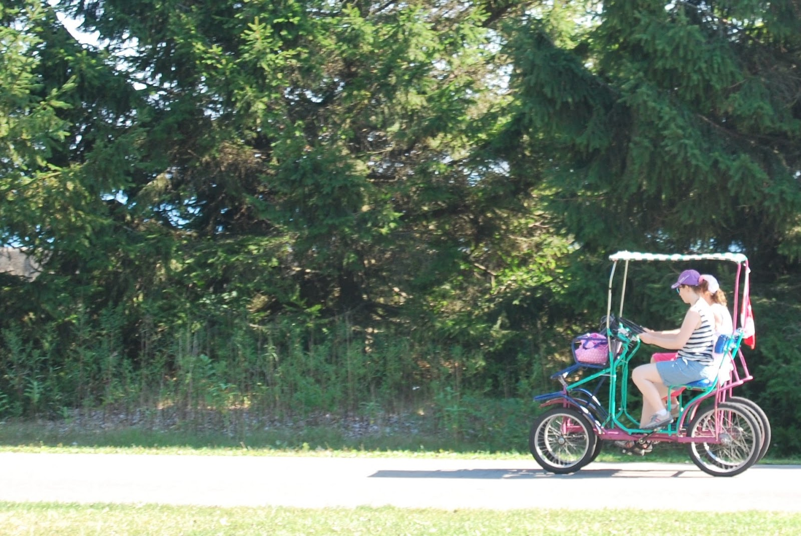 Two-seater bicycle on Toronto Island, photo by modernbricabrac