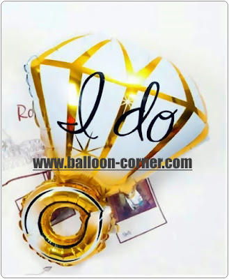 Balon Foil Cincin Diamond I DO