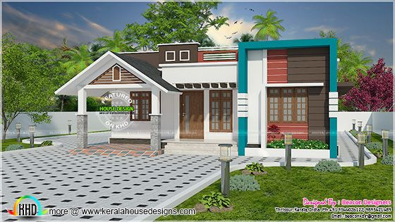 Modern mix roof 1225 sq-ft home