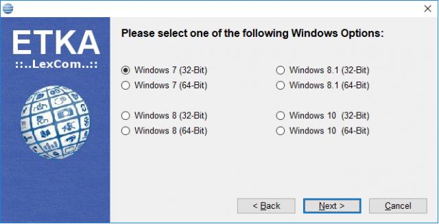ETKA 8 Windows 7/8/10 32 bit/64 bit Install | OBD2 vehicle diagnostics