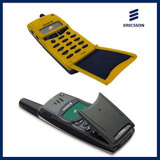 Imagen de un Ericsson T10s y un Ericsson T28