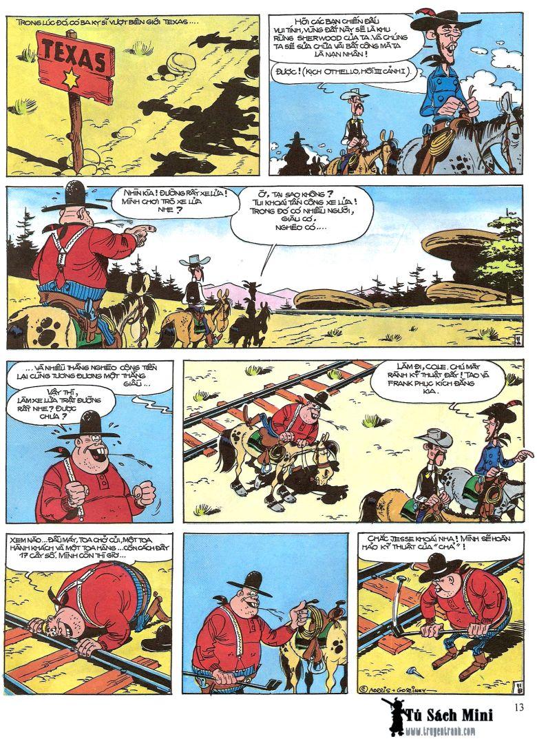 Lucky Luke tap 16 - jesse james hiep si rung xanh trang 15