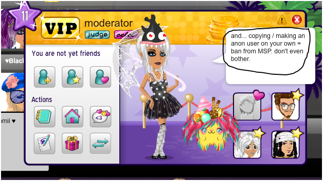 moviestarplanet d anonymous is a fake