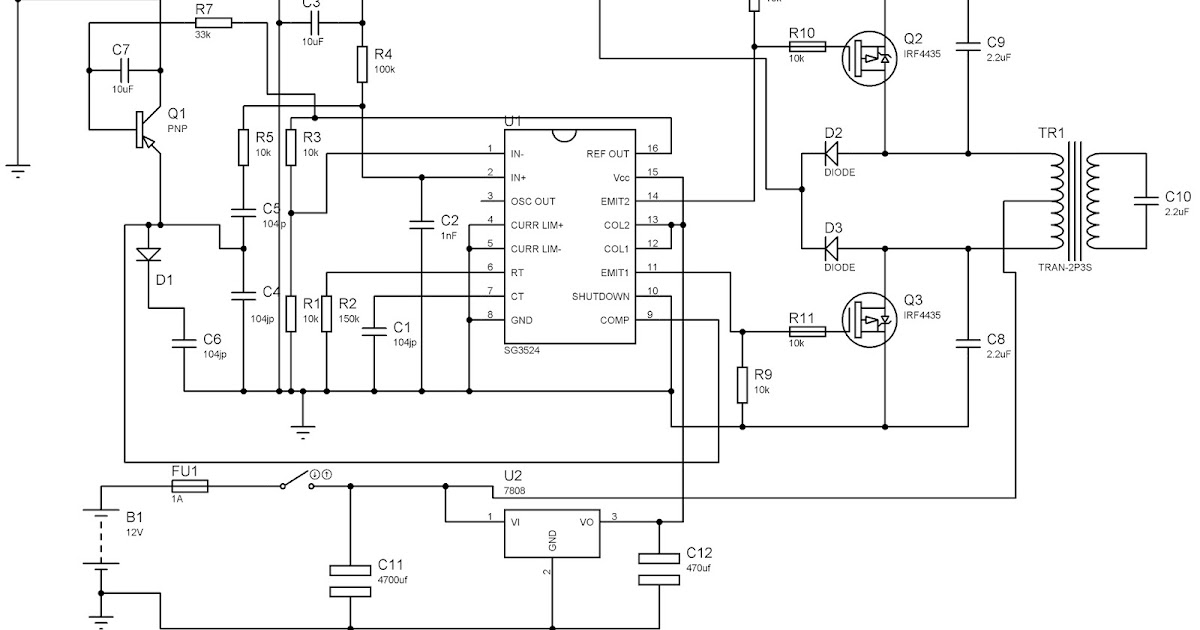 sinewave inverter circuit sg3524 pwm
