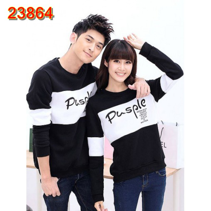 Jual Sweater Couple Sweater Pusple - 23864