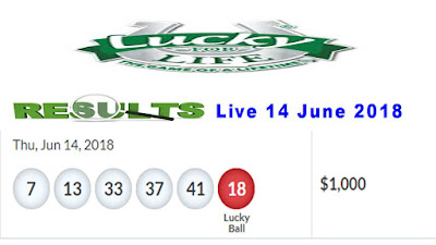 Lucky For Life Lottery Drawing numbers