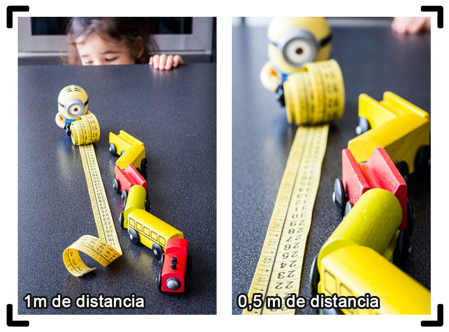 Profundidad de campo - diferentes distancias
