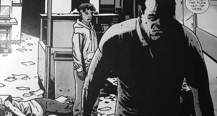 Viñeta del cómic Los Muertos Vivientes: Negan