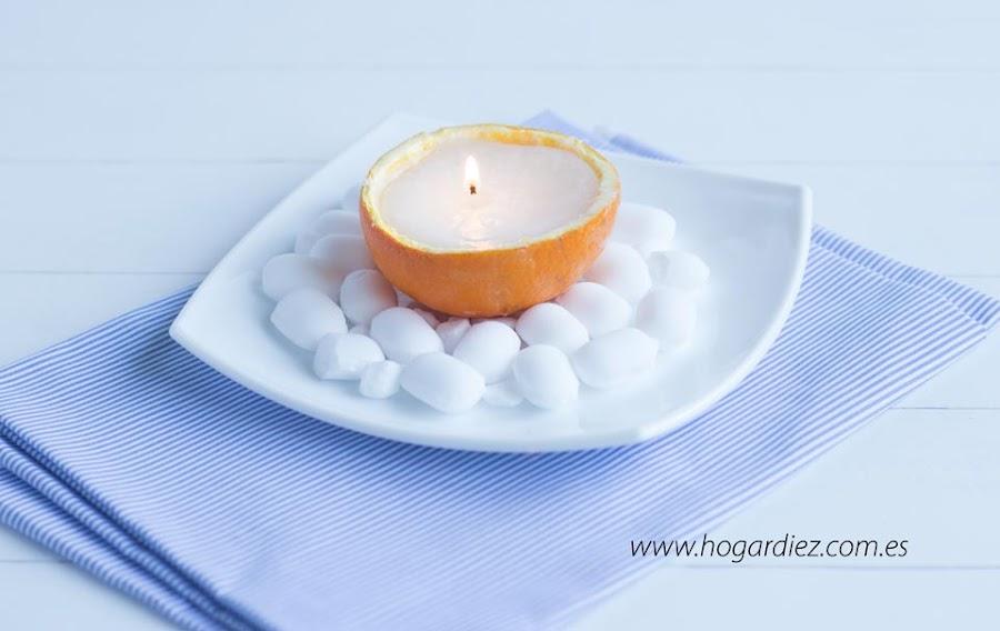 Aromatizador casero de naranja