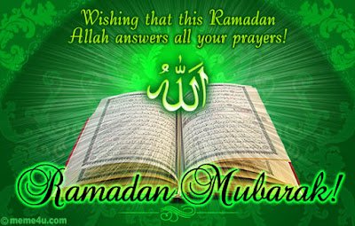 Ramadan Mubarak Wishes Cards: wishing that this Ramadan Allah answers all your prayers!
