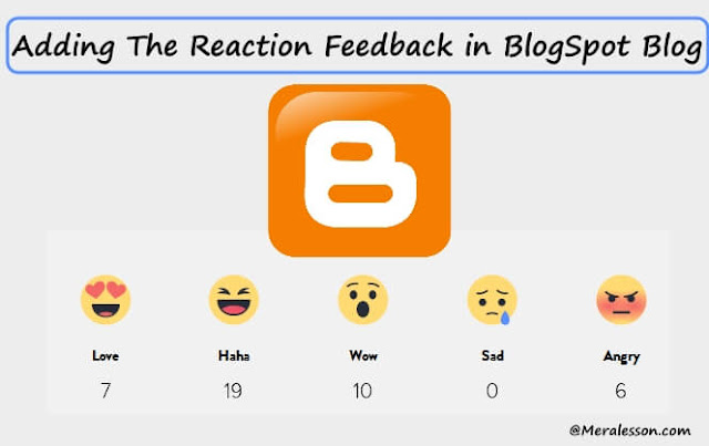 add reaction system in blogger blog