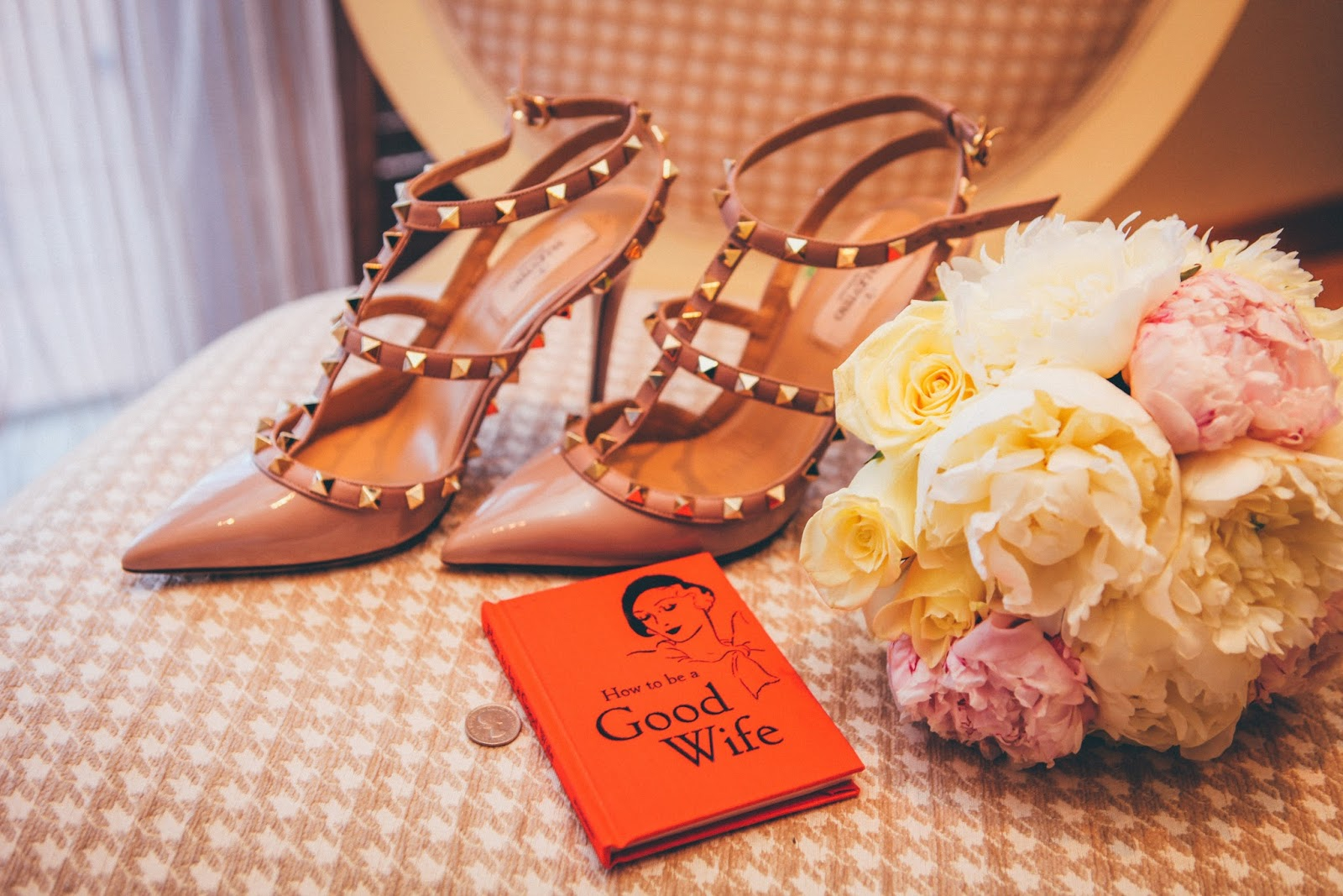 Wedding shoes and bouquet - planning a stylish wedding on a budget - motherdistracted.co.ukl