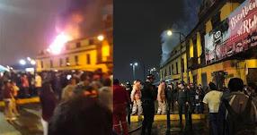 INCENDIO EN EL CENTRO DE LIMA: Fuego se registra cerca al Palacio de Gobierno [FOTO - VIDEO]