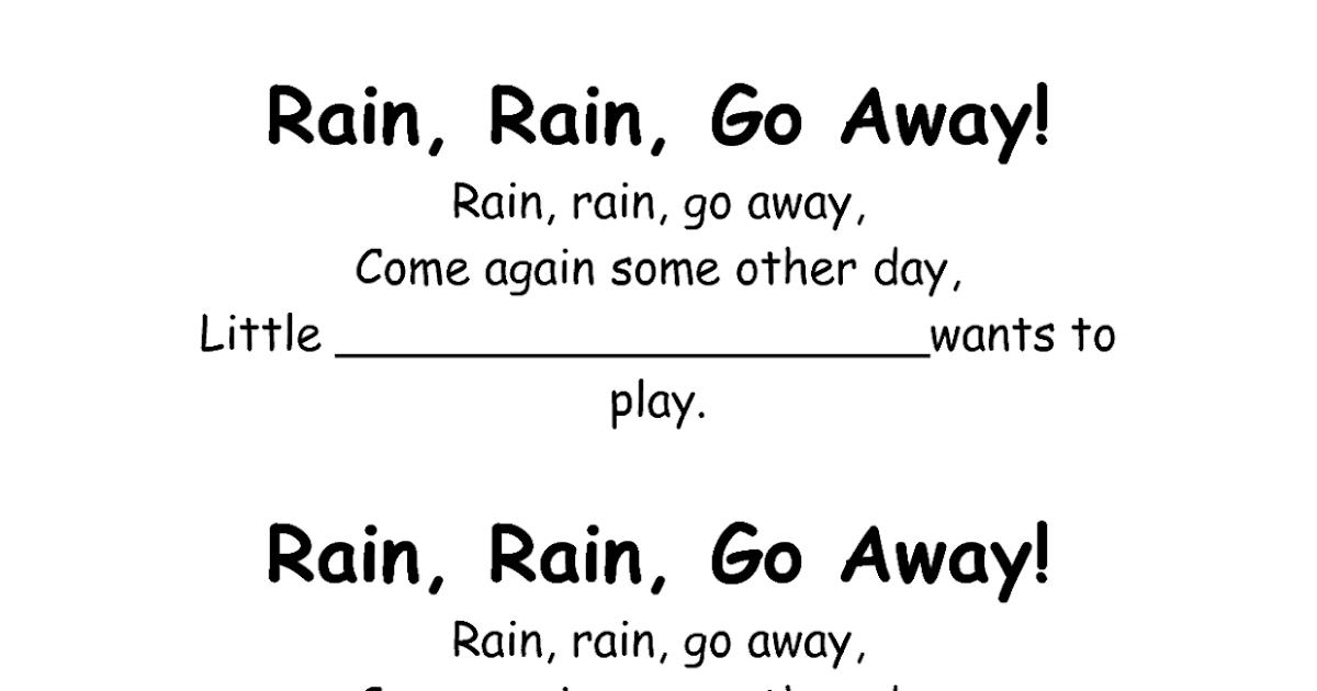 Lyric rain rain go away lyrics : Exclusive Rain Poems | I'm So Lonely...