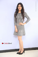 Actress Chandini Chowdary Pos in Short Dress at Howrah Bridge Movie Press Meet  0028.JPG