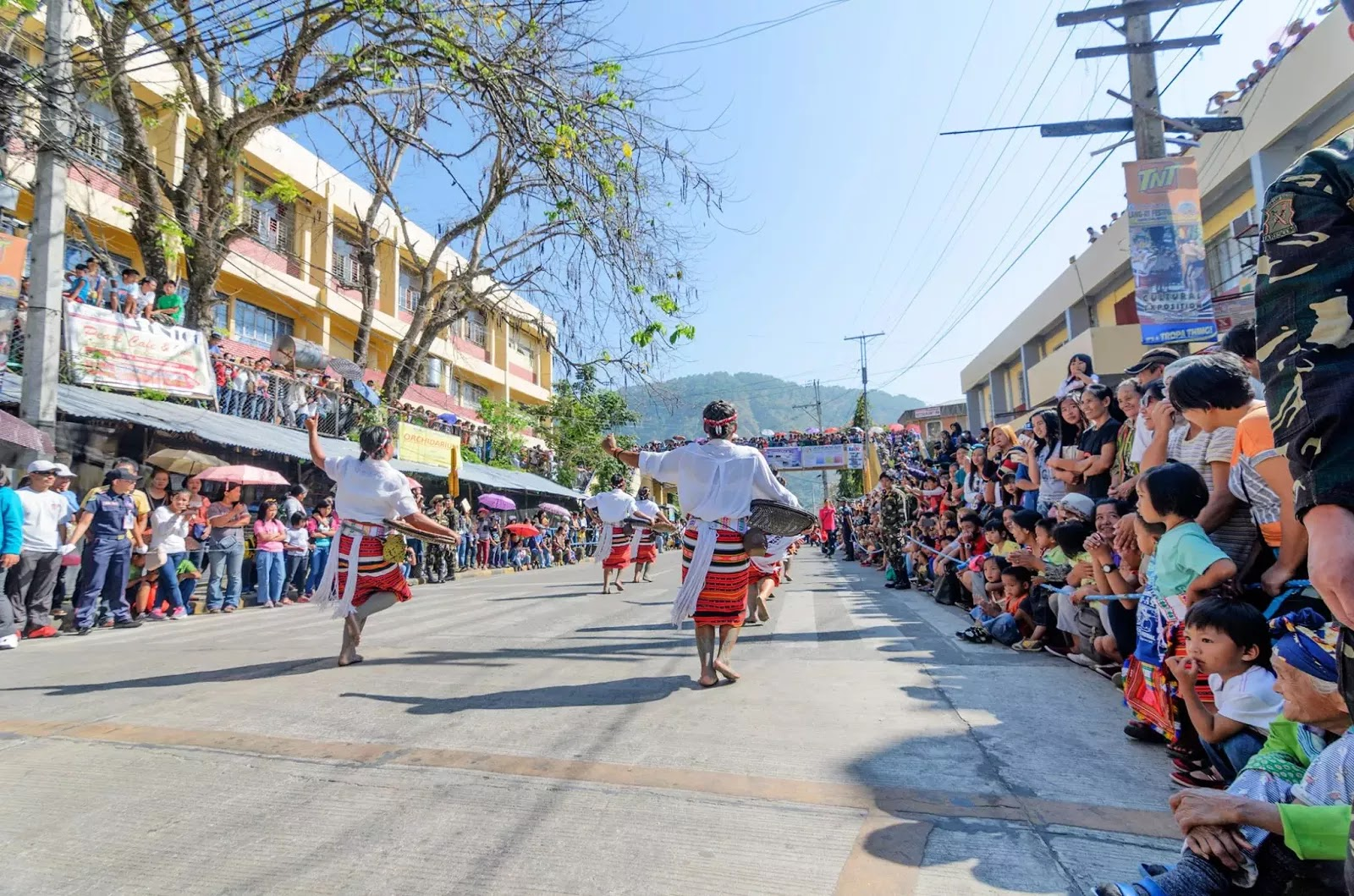 Bontoc Mountain Province 13th lang-Ay Festival Street Dancing in the Streets Tailend.