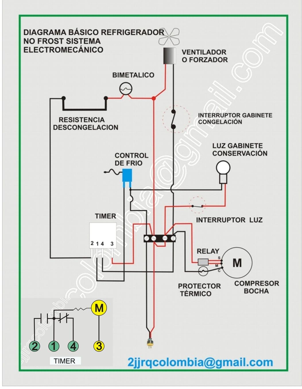 Circuito Basico : Circuito elÉctrico de un refrigerador domÉstico sencillo climax