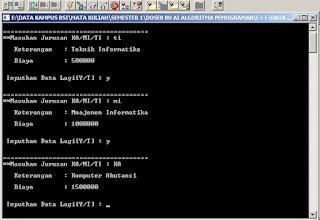Coding Membuat Sebuah Data Input Jurusan Pada C++ - www.helloflen.com