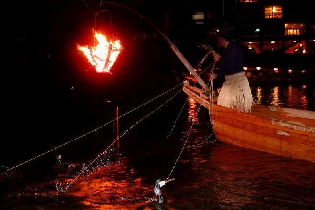 Ukai (Cormorant Fishing) on the Nagara River, Gifu Pref.