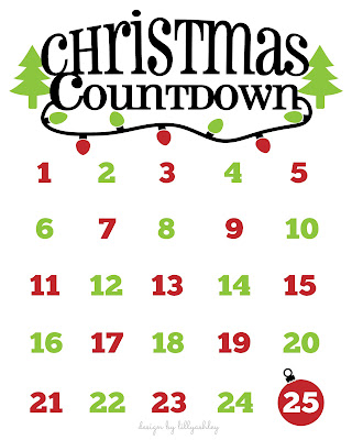 christmas countdown printable christmas freebie