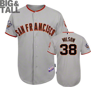 Big and Tall Brian Wilson San Francisco Giants Jersey