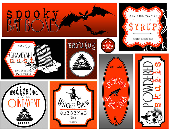 Embellish {free printables} Trick or Treat Halloween Party