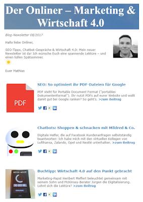 """Blog-Newsletter """"Der Onliner"""""""