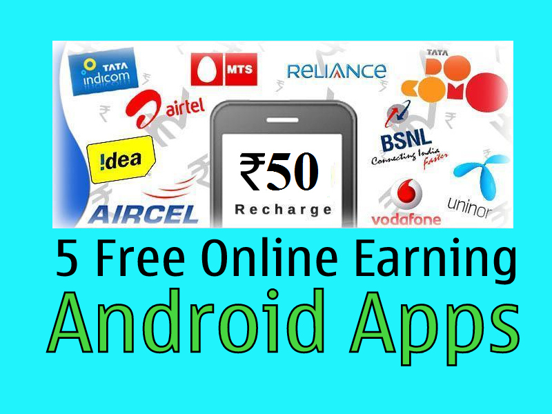 Top 5 Online Free Recharge Earning Apps [April 2016] (Hindi) - TechYukti