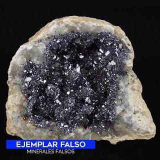geoda falsa de galena - cristales de galena pegados en la geoda |foro de minerales