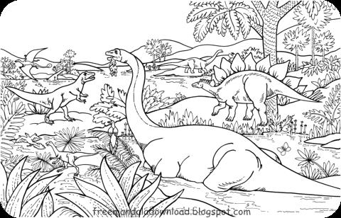 Dinosaurier Malvorlagen Free Mandala