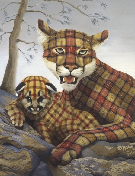 05-FU-Y-all-Sean-Landers-Paintings-of-Animals-that-Swap-their-Fur-for-Tartan-Coats-www-designstack-co