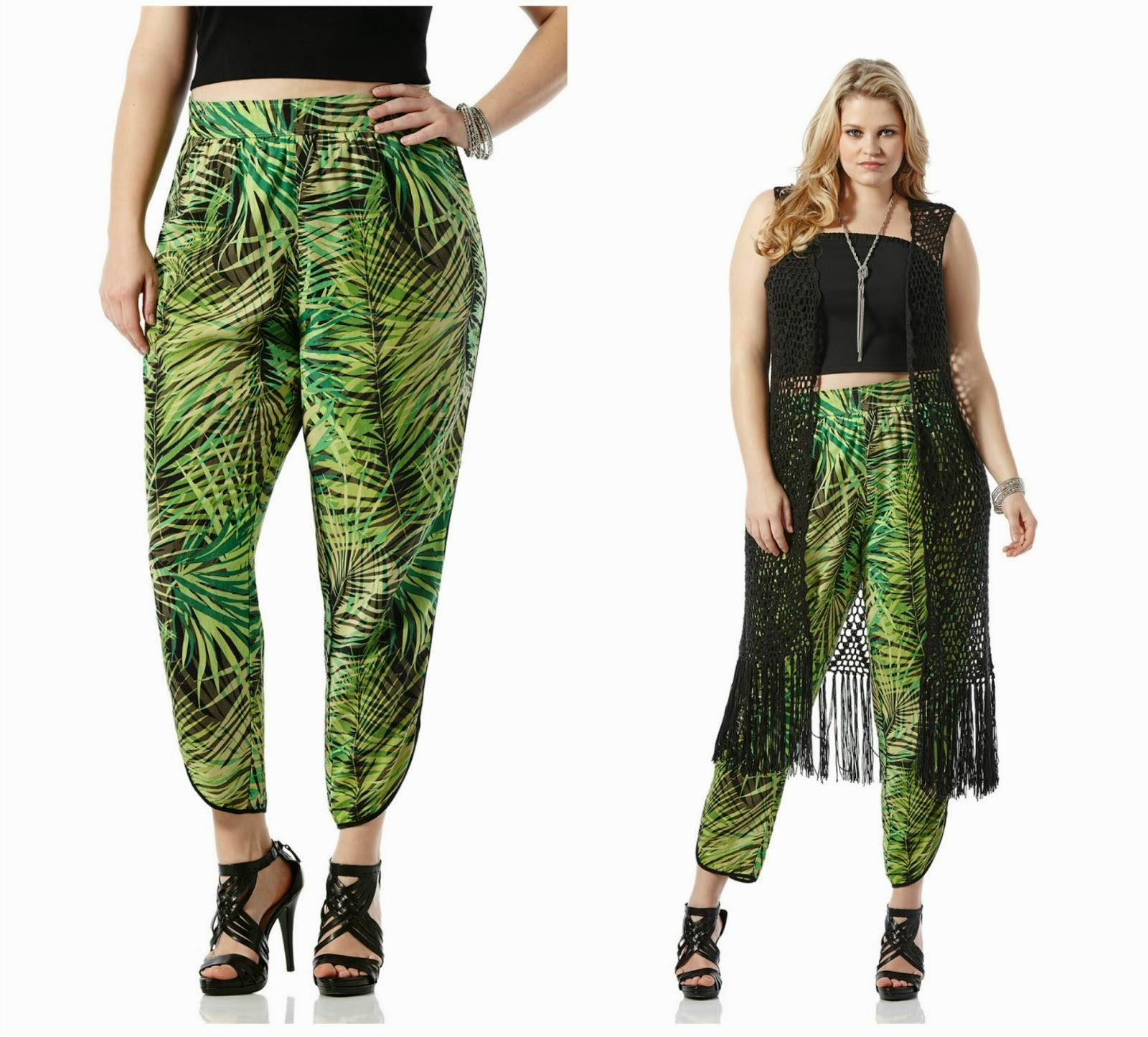 tropical prints, pants, crochet, duster, plus size fashion, cidstylefile, dillards