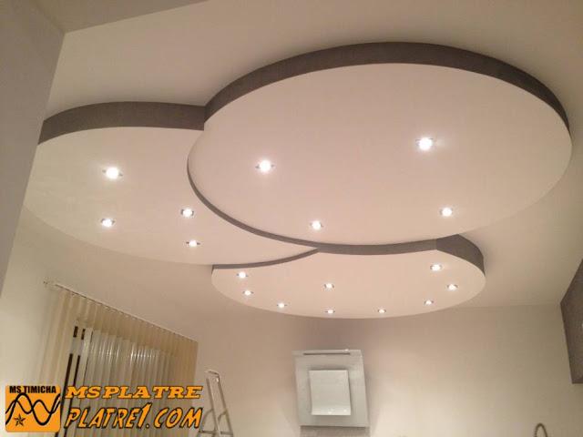 Nouveau faux plafond pour le salon