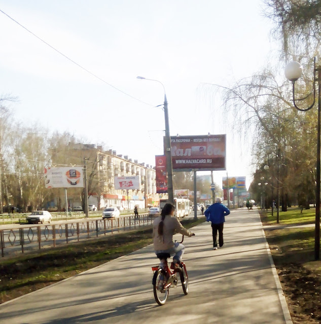 весенняя прогулка на велосипеде
