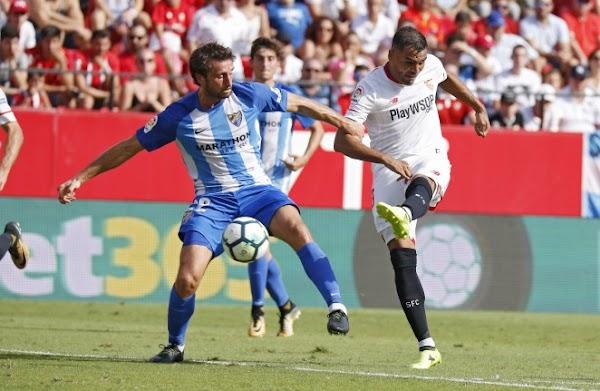 El Sevilla noquea en la segunda parte al Málaga (2-0)