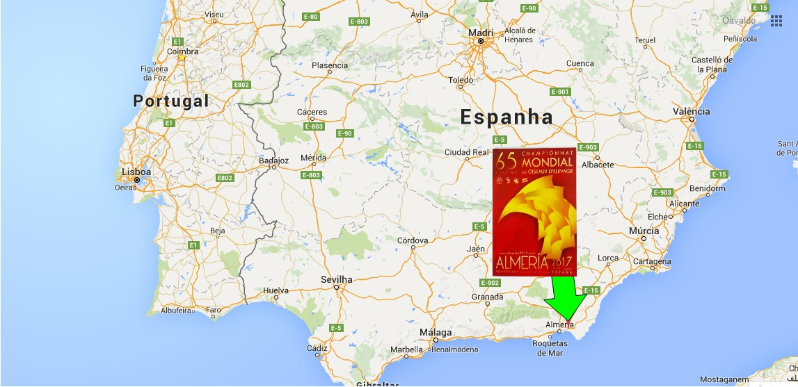 mapa de espanha almeria Birdsblog: 65º Campeonato Mundial de Ornitologia   ALMERIA  mapa de espanha almeria