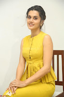 Taapsee Pannu looks mesmerizing in Yellow for her Telugu Movie Anando hma motion poster launch ~  Exclusive 009.JPG
