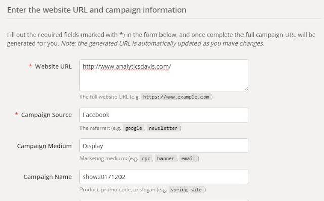 使用UTM網址產生器填入辨識廣告參數