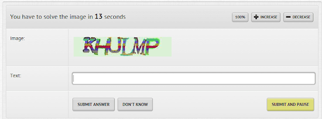 Captcha solving techinque