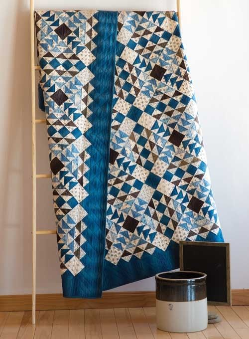Union Blues Quilt Free Pattern designed By Barbara Brackman for Bear Creek Quilting Company