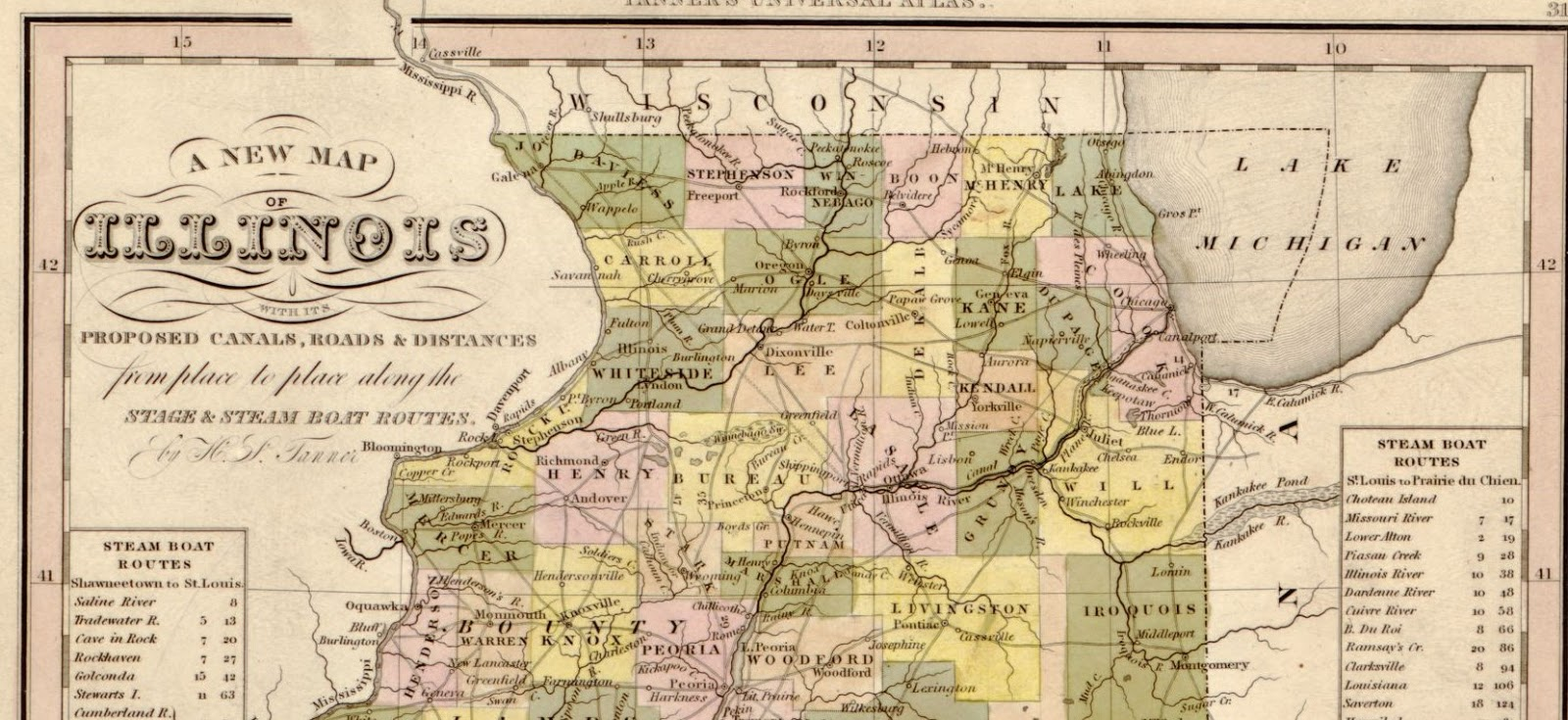 Illinois henry county andover - Henry Schenck Tanner Tanner S Universal Atlas 1844 P 31 Library Of Congress Permanent Link Lccn Loc Gov Map45000245