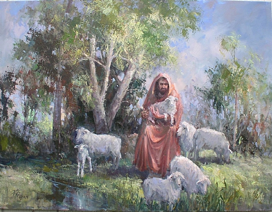 The Lord as a shepherd providing Love, protection and care to his sheep