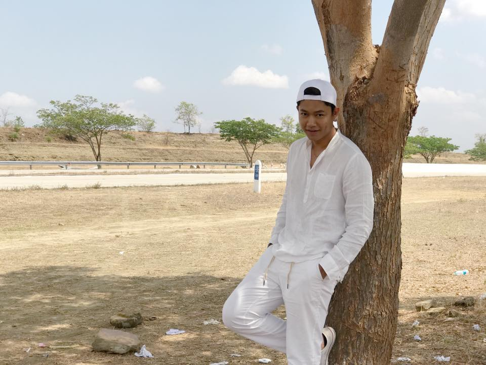 Myanmar Idol Host Kyaw Htet Aung White Outfit Fashion Snaps