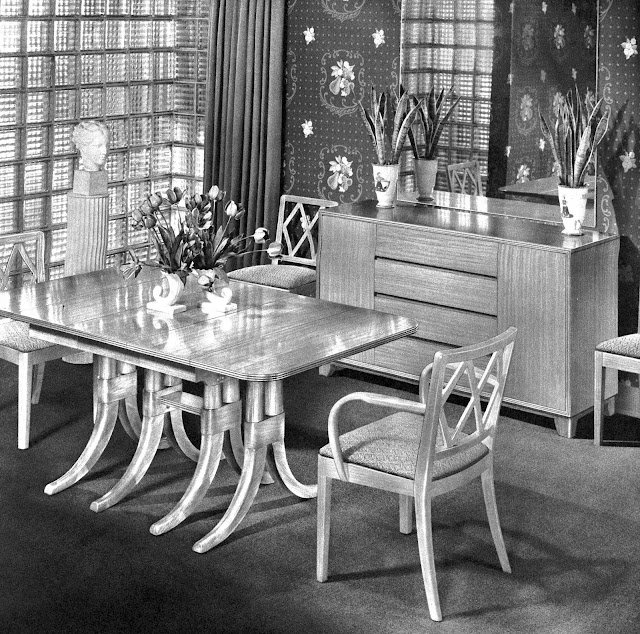 1942 vintage glass block interior photgraph